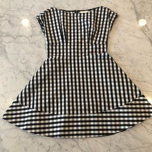 Black and White Kate Spade Gingham Dress